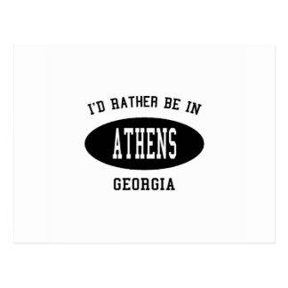 Cartão Postal Eu preferencialmente estaria em Atenas, Geórgia