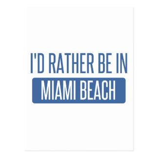 Cartão Postal Eu preferencialmente estaria em Miami Beach