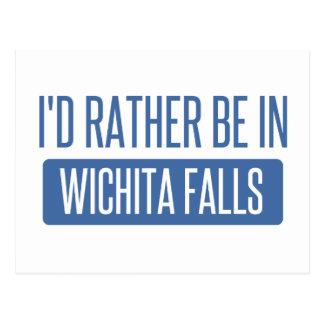 Cartão Postal Eu preferencialmente estaria em quedas de Wichita