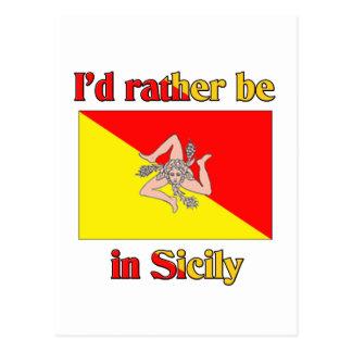Cartão Postal Eu preferencialmente estaria em Sicília