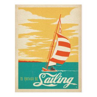 Cartão Postal Eu preferencialmente estaria navegando