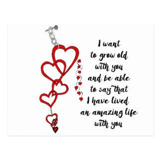 Cartão Postal Eu quero crescer idoso com você