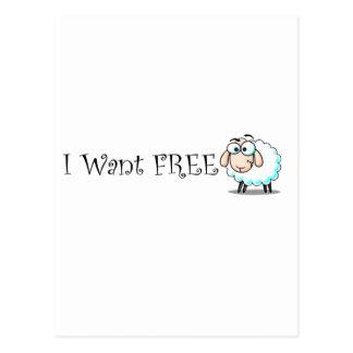Cartão Postal Eu quero livre