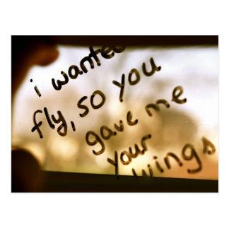 Cartão Postal Eu quis voar
