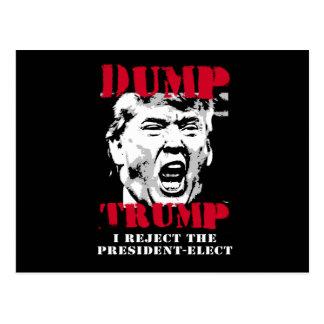 Cartão Postal Eu rejeito o Presidente-Elect - trunfo da descarga