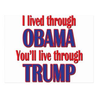 Cartão Postal Eu sobrevivi a Obama