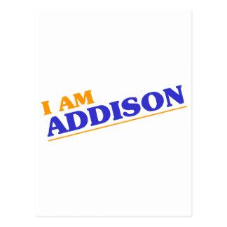 Cartão Postal Eu sou Addison