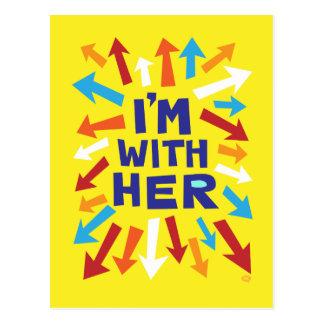 Cartão Postal Eu sou com ela
