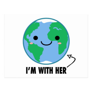 Cartão Postal Eu sou com ela - Dia da Terra do planeta