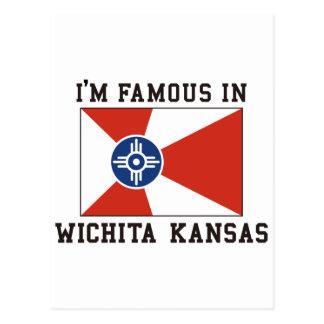 Cartão Postal Eu sou famoso em Wichita Kansas