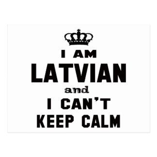 Cartão Postal Eu sou letão e eu não posso manter a calma