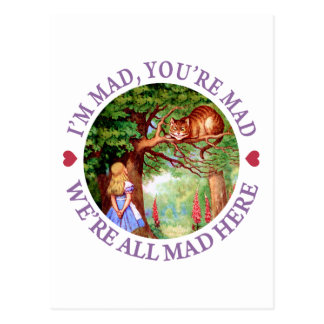 Cartão Postal Eu sou louco, você sou louco, nós sou tudo louco