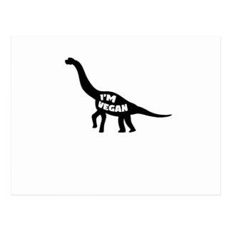 Cartão Postal eu sou presente do vegetariano do dinossauro do