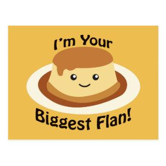 Cartão Postal Eu sou seu Flan mais grande