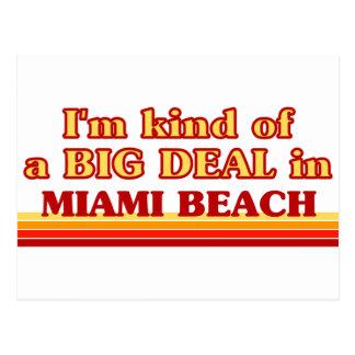 Cartão Postal Eu sou tipo de uma GRANDE COISA em Miami Beach
