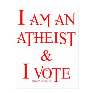 Cartão Postal Eu sou um ateu e eu voto