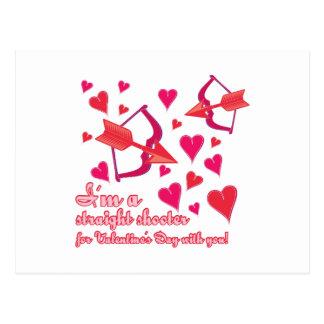 Cartão Postal Eu sou um atirador reto para o dia dos namorados