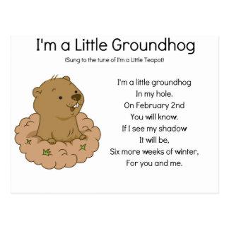 Cartão Postal Eu sou um Groundhog pequeno