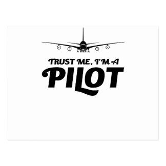 Cartão Postal Eu sou um piloto