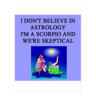 Cartão Postal eu sou um scorpio
