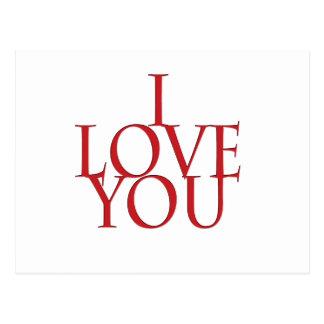 Cartão Postal Eu te amo