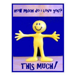 Cartão Postal Eu te amo este muito