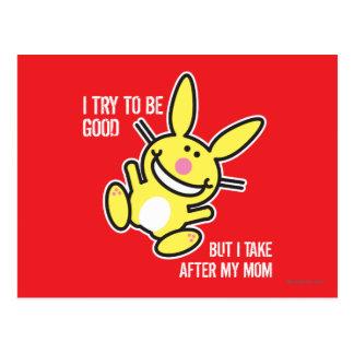 Cartão Postal Eu tomo após minha mamã