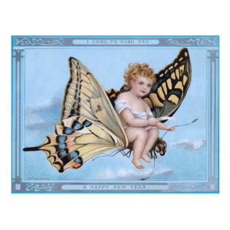 Cartão Postal Eu venho desejar-lhe o feliz ano novo