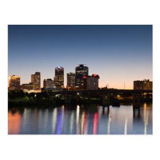 Cartão Postal EUA, Arkansas, Little Rock, skyline da cidade