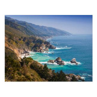 Cartão Postal EUA, Califórnia. Costa de Califórnia, Sur grande