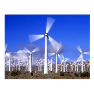 Cartão Postal EUA, Califórnia, Mojave. Vista de uma turbina