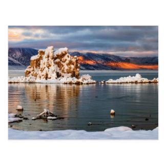 Cartão Postal EUA, Califórnia, nascer do sol no mono lago