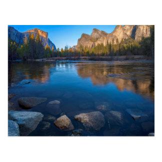 Cartão Postal EUA, Califórnia. Opinião 2 do vale de Yosemite