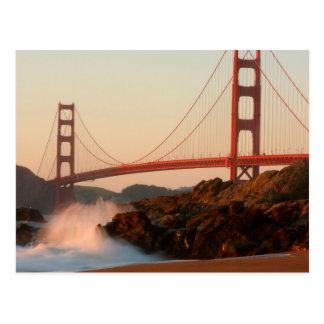 Cartão Postal EUA, Califórnia. Opinião de golden gate bridge