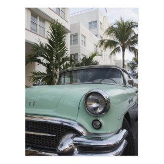 Cartão Postal EUA, Florida, Miami Beach: Praia sul, 1956 3