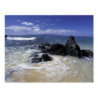 Cartão Postal EUA, Havaí, Maui, Maui, praia de Makena, surf