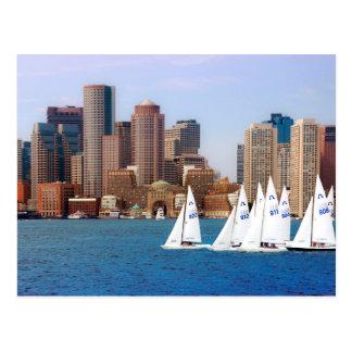Cartão Postal EUA, Massachusetts. Skyline 4 do beira-rio de