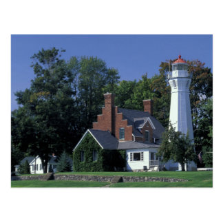 Cartão Postal EUA, Michigan, o Lago Huron. Porto Sanilac
