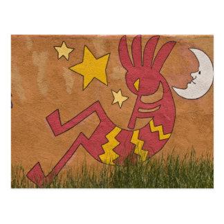 Cartão Postal EUA, New mexico, Santa Fé. Pintura mural da parede