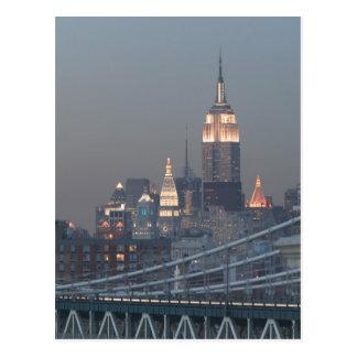 Cartão Postal EUA, Nova Iorque, vista da ponte de Manhattan,