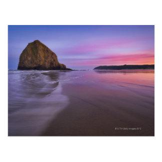 Cartão Postal EUA, Oregon, Clatsop County, rocha do monte de