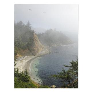 Cartão Postal EUA, Oregon, vista para o mar, cabo Arago, Bandon