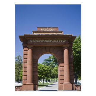 Cartão Postal EUA, VA, Arlington. Porta de McClellan em