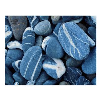 Cartão Postal EUA, Vermont, lago Champlain, pedras
