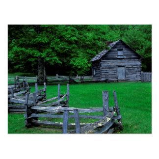 Cartão Postal EUA, Virgínia, Parkway azul de Ridge, o Puckett