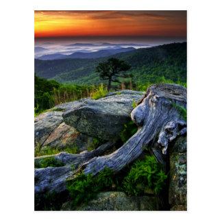 Cartão Postal EUA, Virgínia, parque nacional de Shenandoah