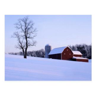 Cartão Postal EUA, Virgínia, Shenandoah Valley, celeiro