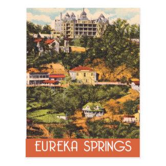 Cartão Postal Eureka Springs, Arkansas, estilo das viagens