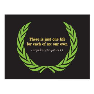 Cartão Postal Euripides apenas uma vida