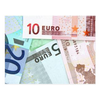 Cartão Postal Euro- dinheiro